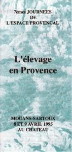 berger pastoralisme élevage colloque Provence