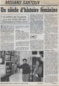 femmes Provence exposition crdo Gourdon