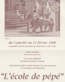 école exposition Provence crdo