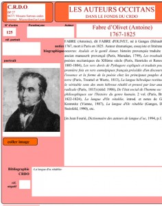 Fabre d'Olivet auteur occitan